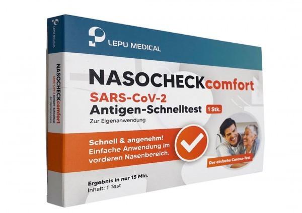 NASOCHECK comfort SARS-CoV-2 Antigen Schnelltest Laientest